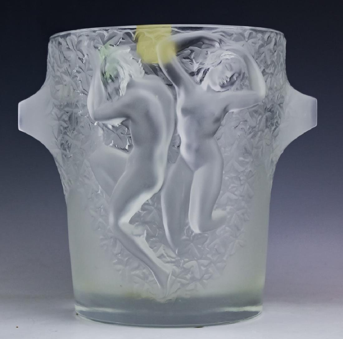Lalique French Crystal Ganymede Champagne Bucket