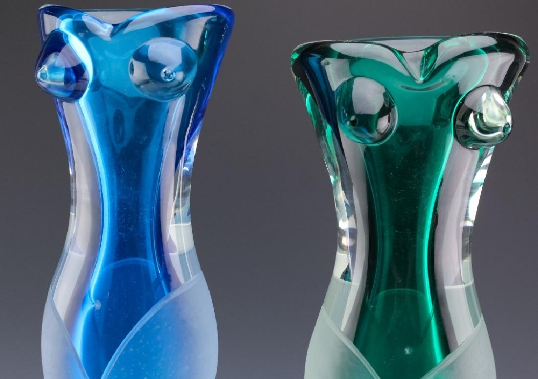 Stefano Toso PAIR of Murano Art Glass Figural Vase - 5
