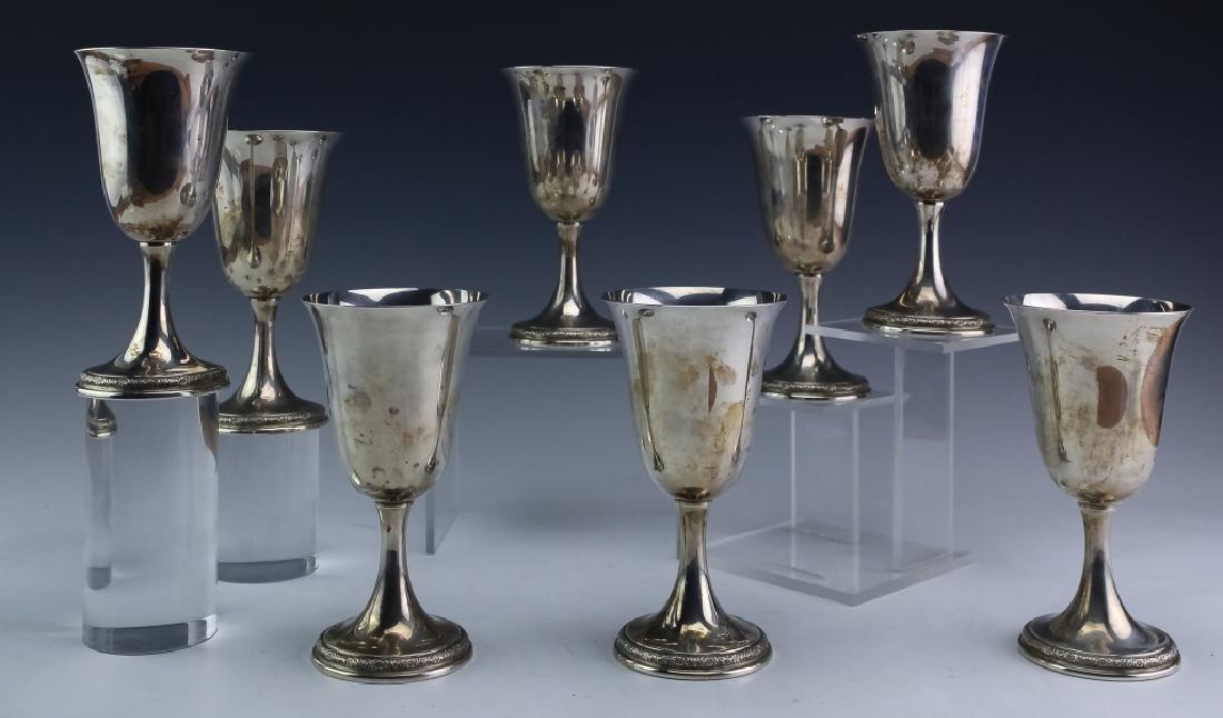 8 Prelude Sterling Silver Wine Goblets SET 1,522gr