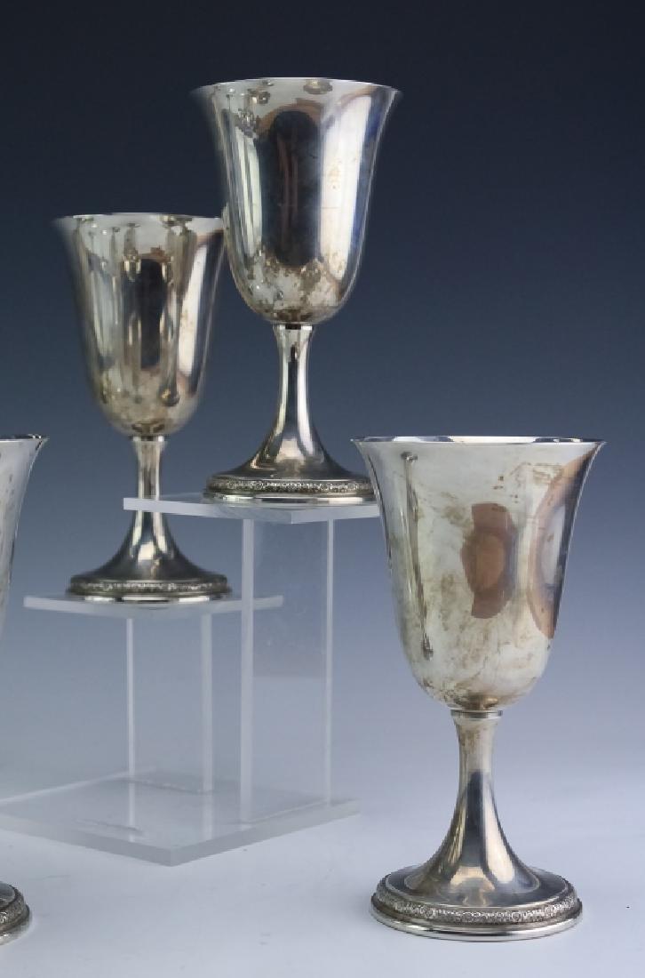 8 Prelude Sterling Silver Wine Goblets SET 1,522gr - 2