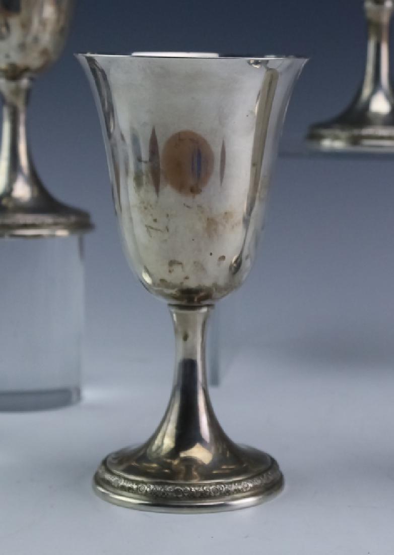 8 Prelude Sterling Silver Wine Goblets SET 1,522gr - 3