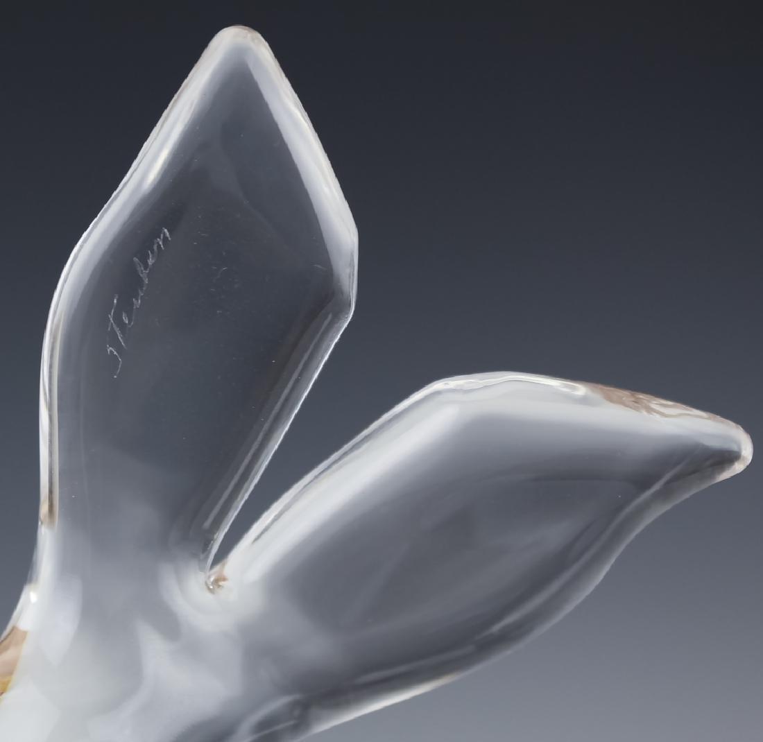 Steuben American Studio Art Glass Seal Figurine - 7