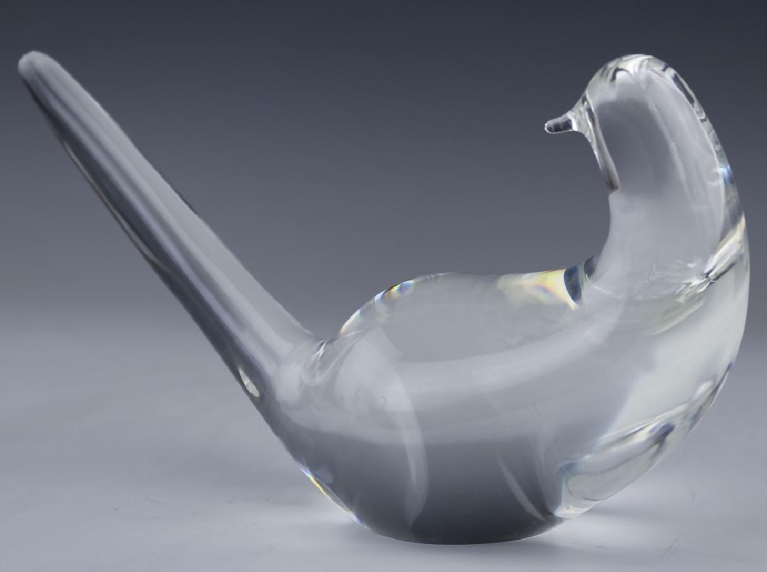 Steuben Studio Art Glass Crystal Pair of Dove Bird - 4