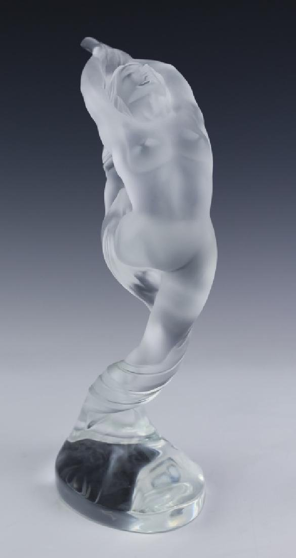 Lalique French Art Glass 2 Nude Figural Sculpture - 3