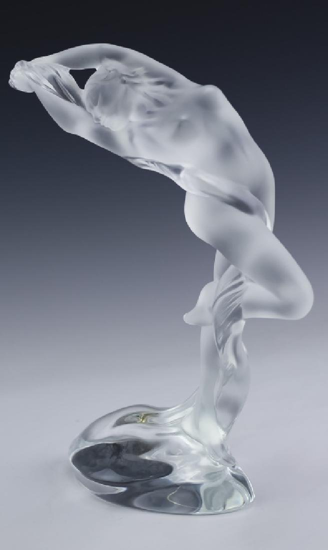 Lalique French Art Glass 2 Nude Figural Sculpture - 4