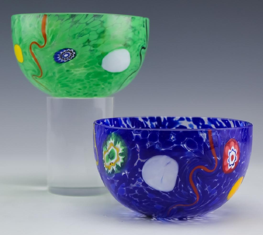 Murano Studio Art Glass (2 ) Artist Signed Bowls