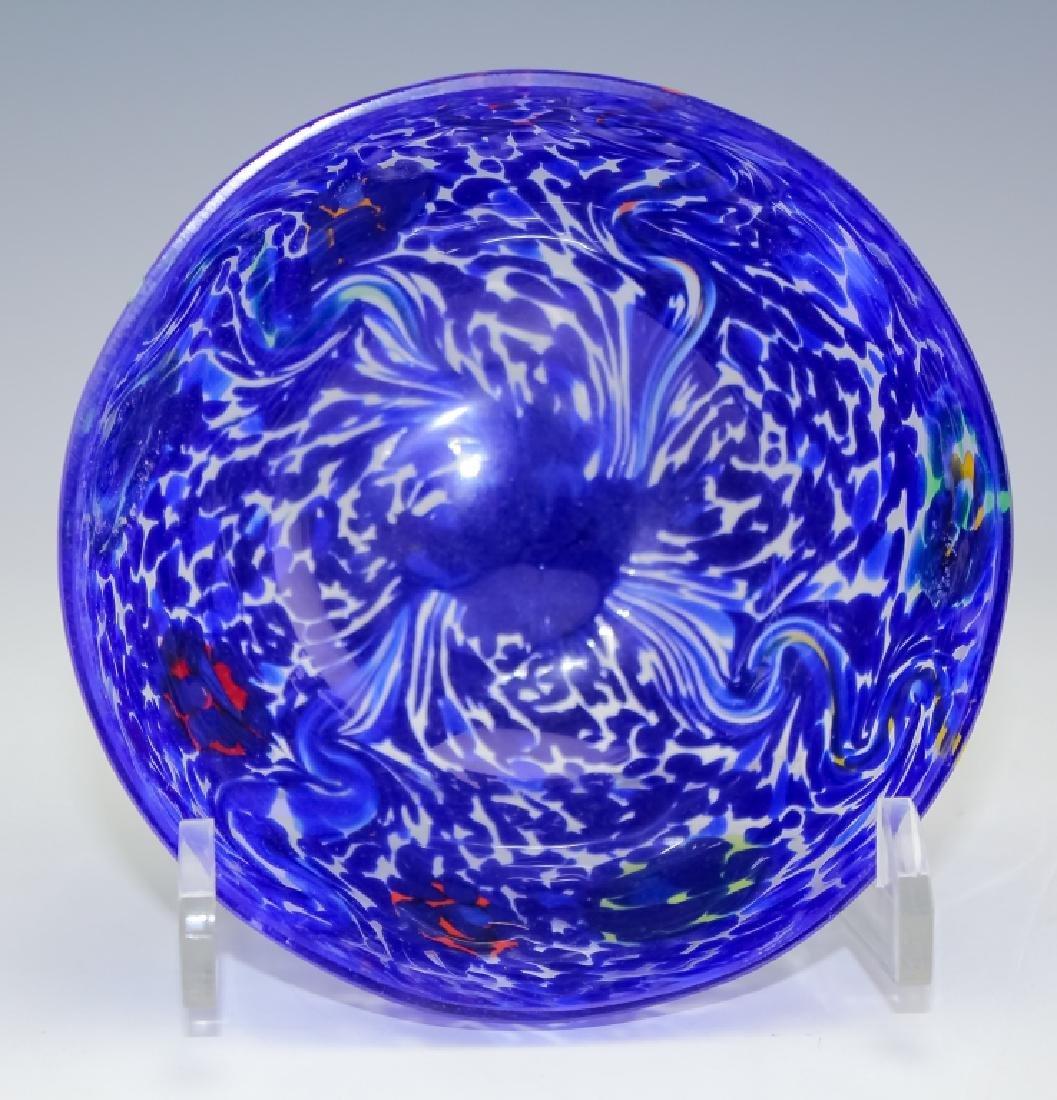 Murano Studio Art Glass (2 ) Artist Signed Bowls - 3