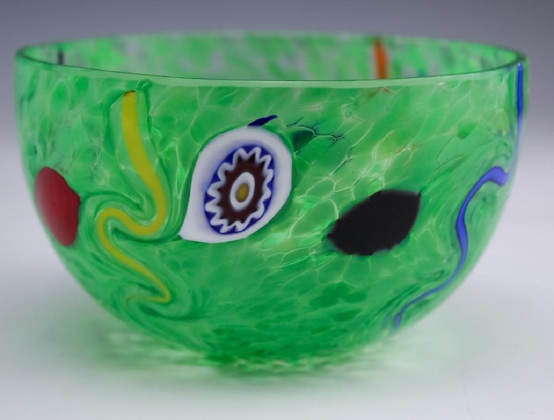 Murano Studio Art Glass (2 ) Artist Signed Bowls - 5