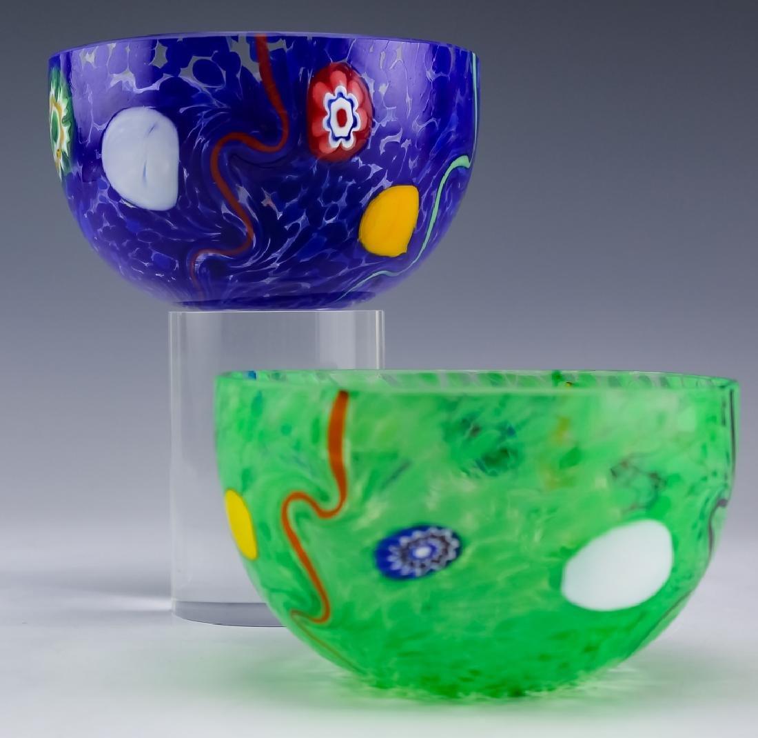 Murano Studio Art Glass (2 ) Artist Signed Bowls - 7