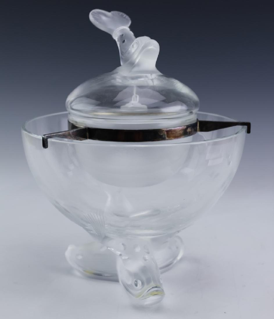 Lalique French Crystal IGOR Caviar Serving Compote
