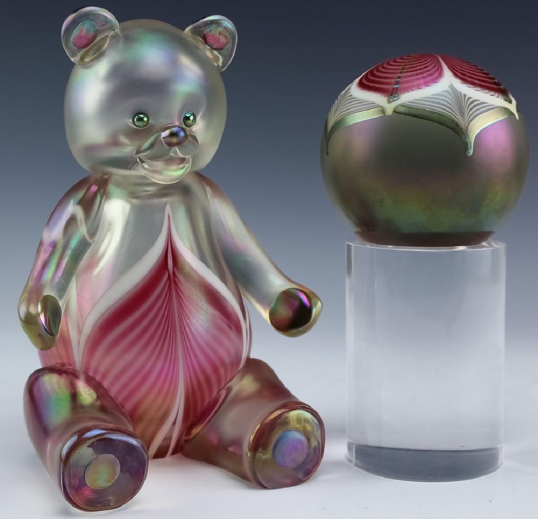 Stuart Ableman Studio Art Glass Bear & Paperweight