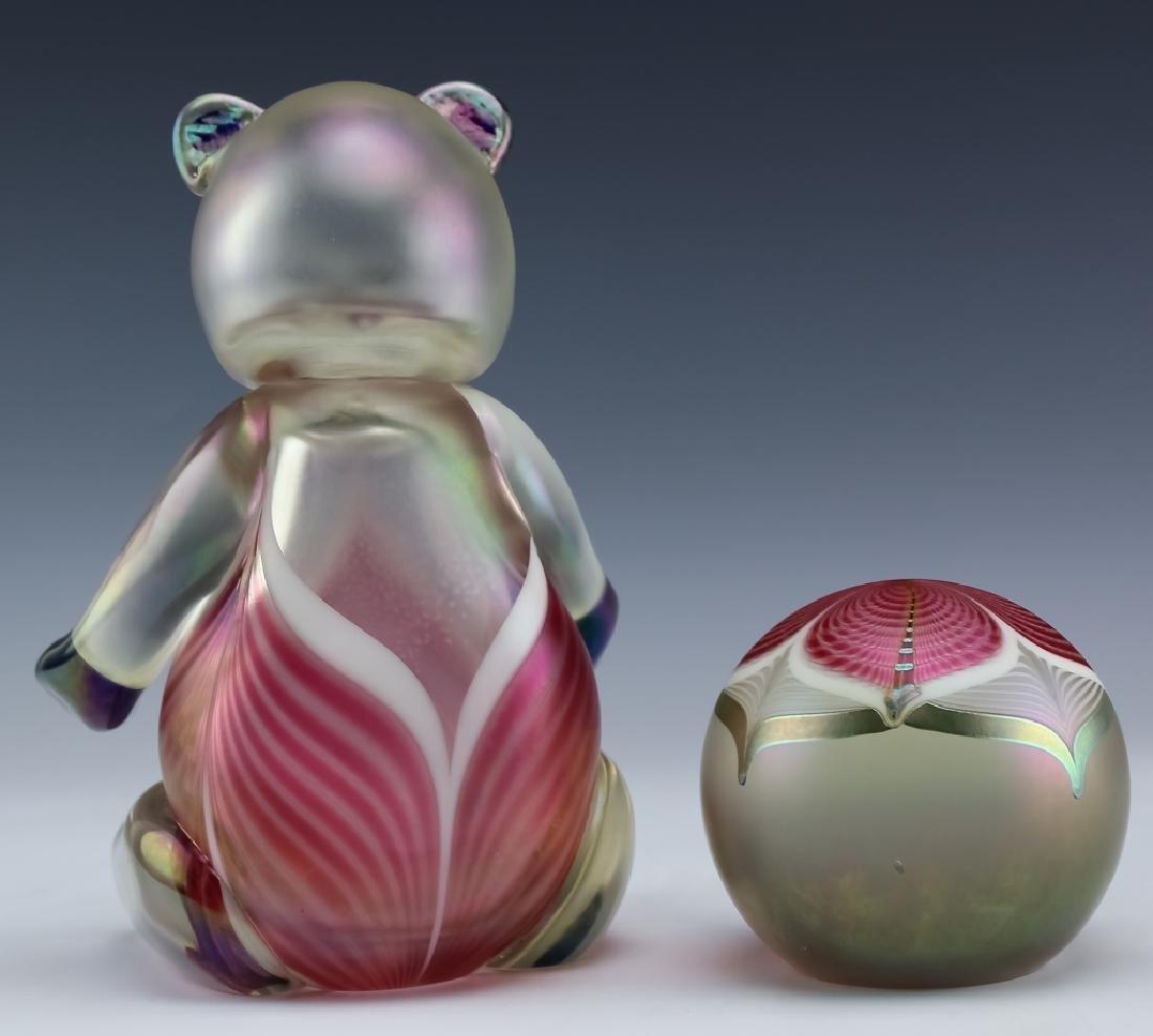 Stuart Ableman Studio Art Glass Bear & Paperweight - 4