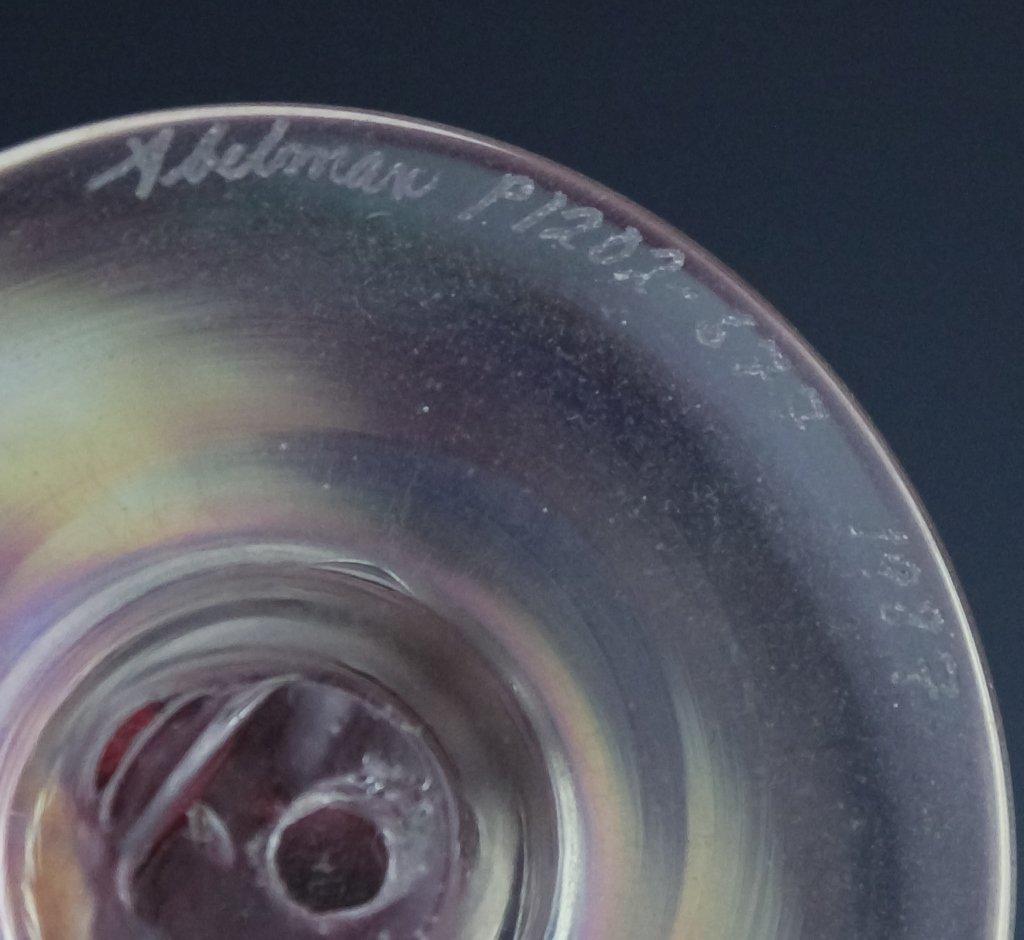 Stuart Ableman (3) Studio Art Glass Perfume Bottle - 4