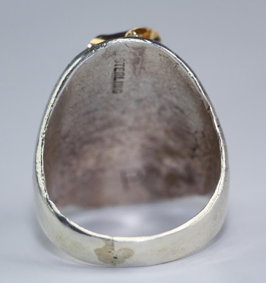 Native American 14k Gold & Silver Navajo Ring s 10 - 4