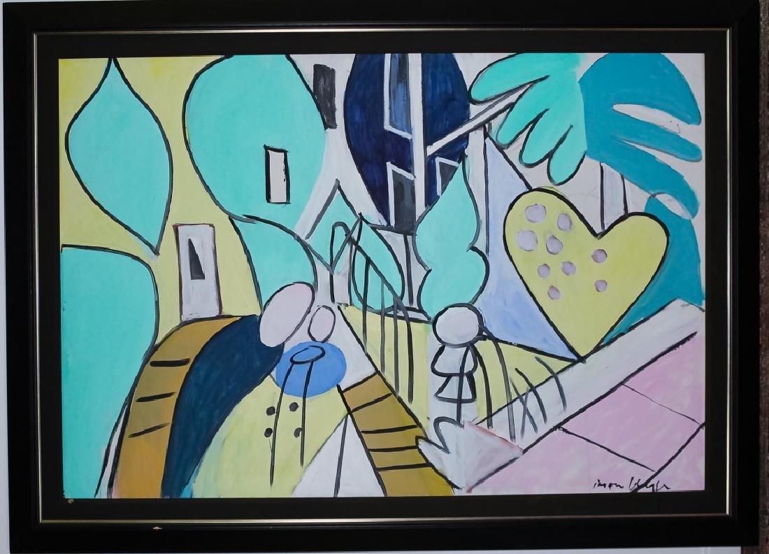 Jason Berger (1924-2010) American Oil Art Painting