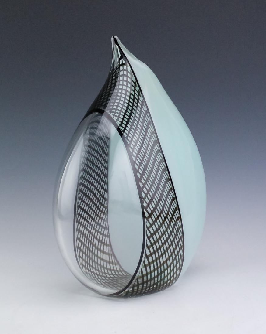 """Giampaolo Seguso Perla Murano Art Glass Vase 14"""" - 2"""