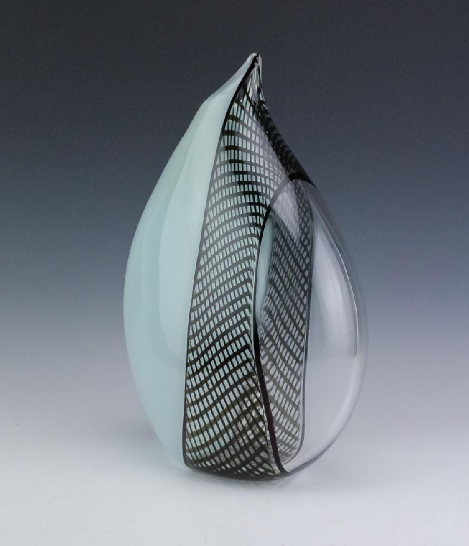 """Giampaolo Seguso Perla Murano Art Glass Vase 14"""" - 3"""