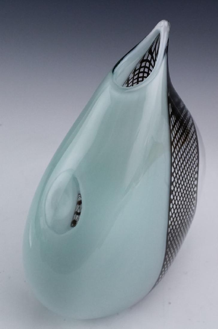 """Giampaolo Seguso Perla Murano Art Glass Vase 14"""" - 5"""