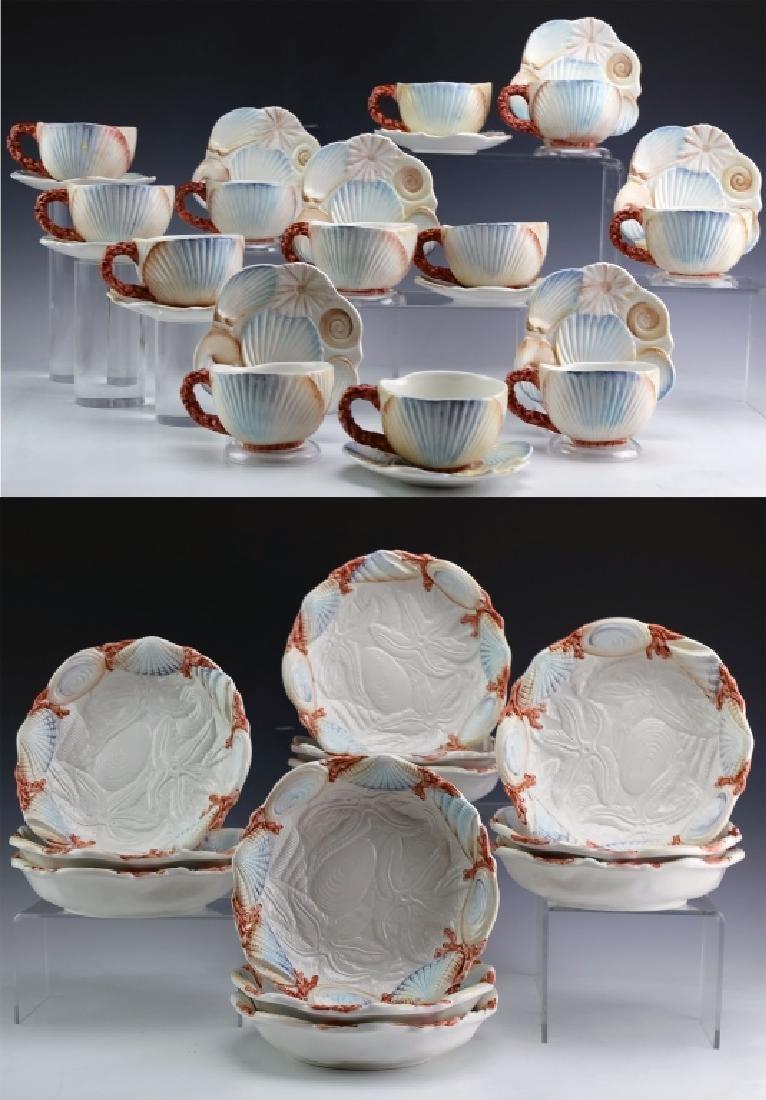 36 PC MARIPOSA Italian Porcelain Cups Saucers Bowl