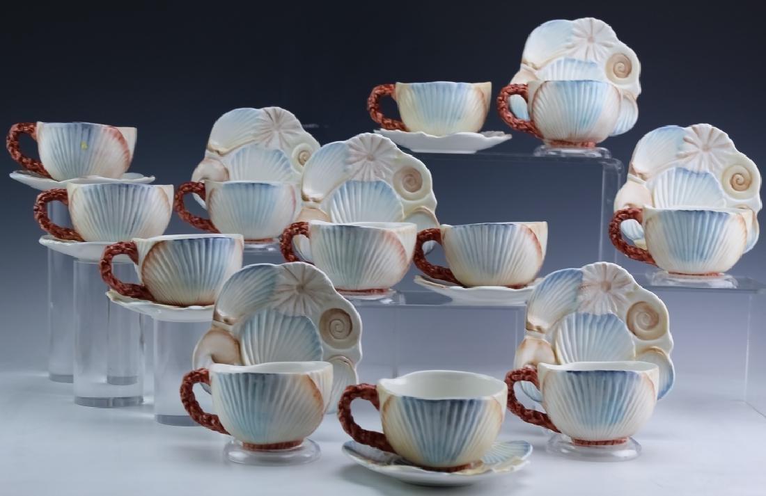36 PC MARIPOSA Italian Porcelain Cups Saucers Bowl - 2