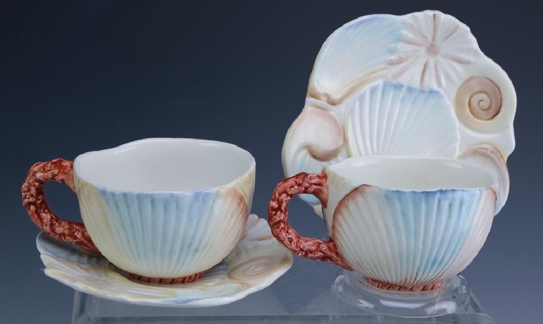 36 PC MARIPOSA Italian Porcelain Cups Saucers Bowl - 3