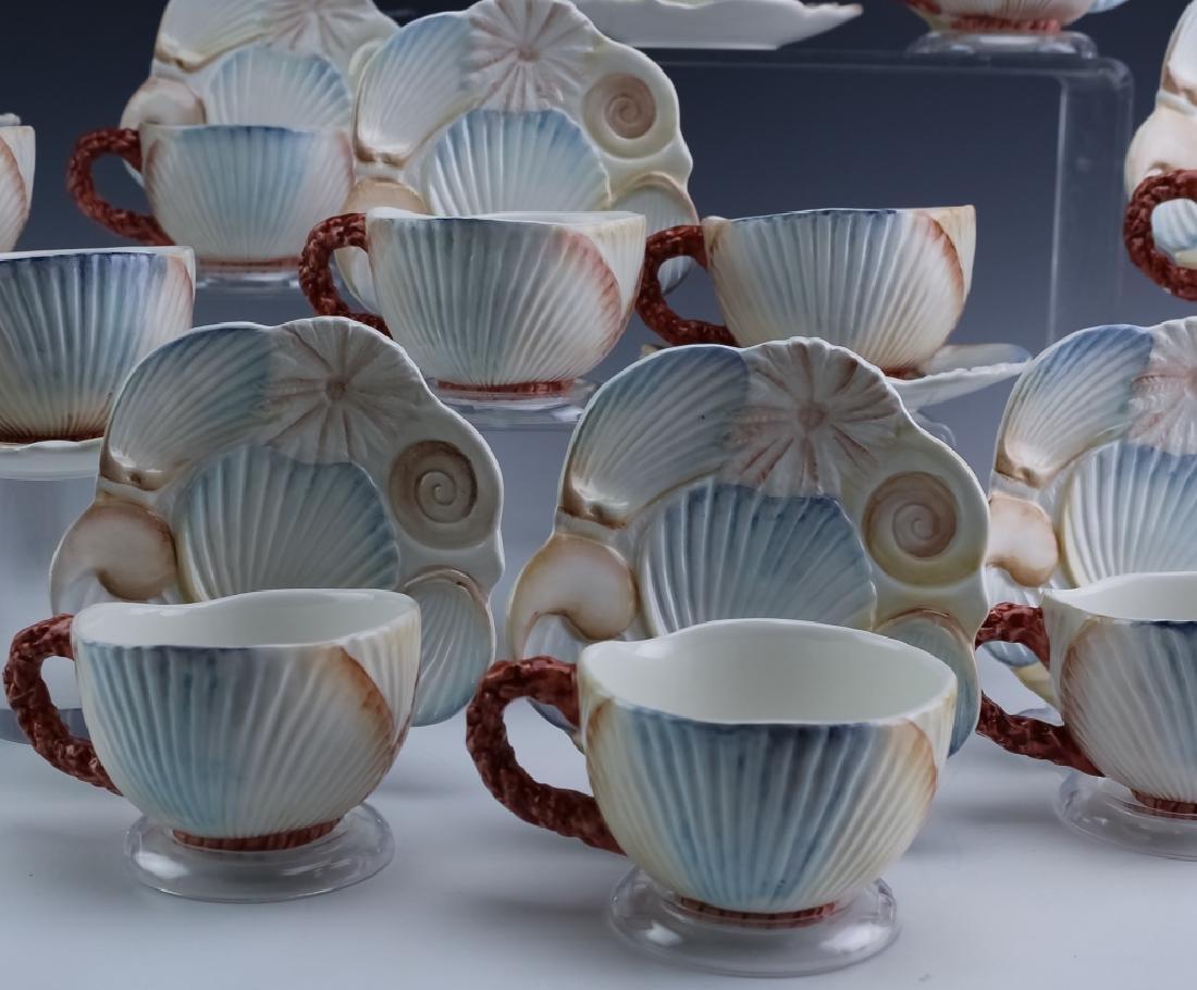 36 PC MARIPOSA Italian Porcelain Cups Saucers Bowl - 4