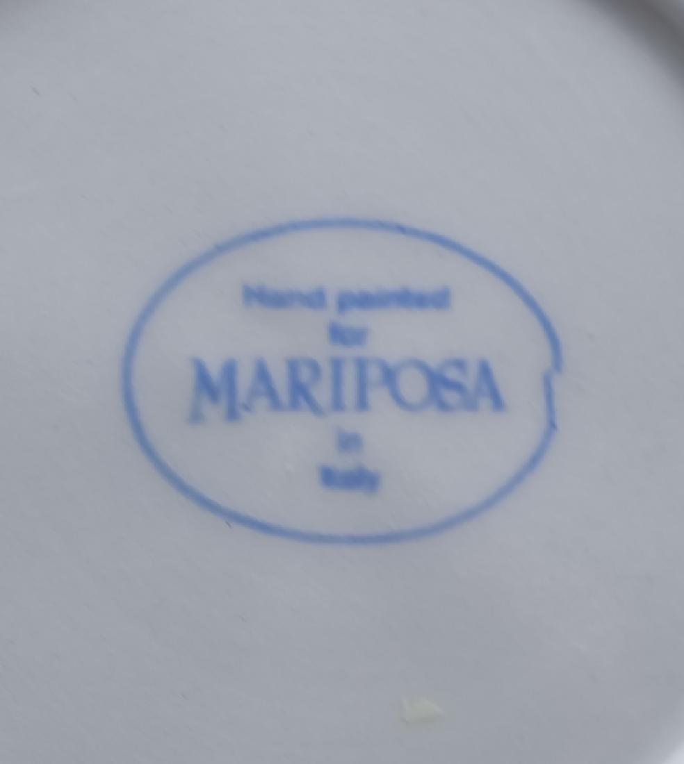 36 PC MARIPOSA Italian Porcelain Cups Saucers Bowl - 6