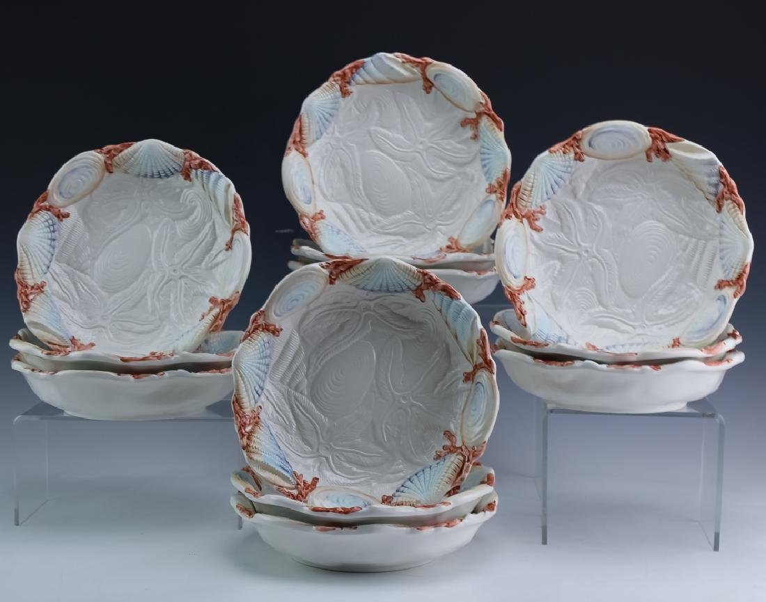 36 PC MARIPOSA Italian Porcelain Cups Saucers Bowl - 7