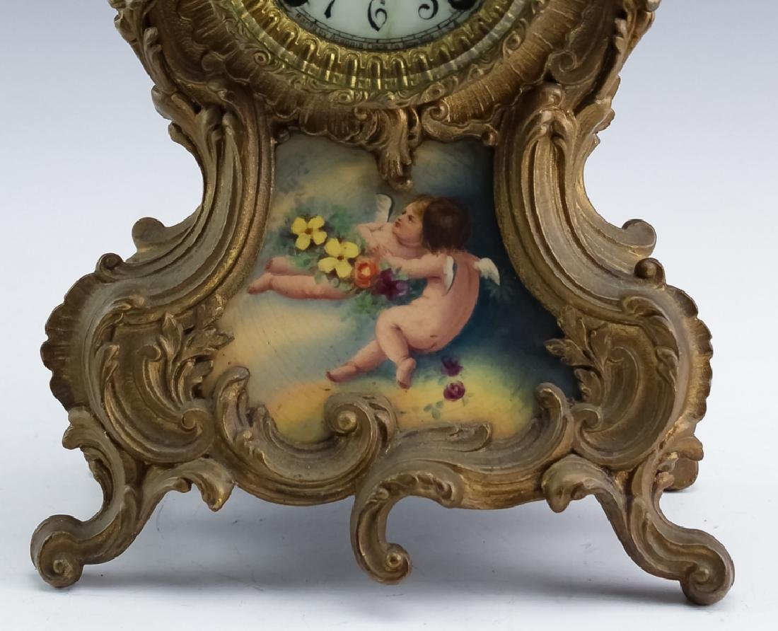 Antique Ansonia French Style Bronze Mantle Clock - 2