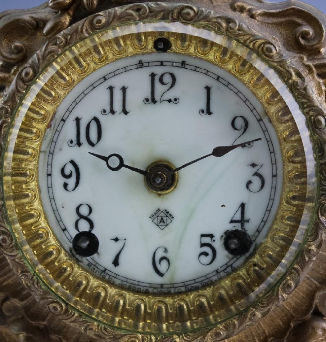 Antique Ansonia French Style Bronze Mantle Clock - 3
