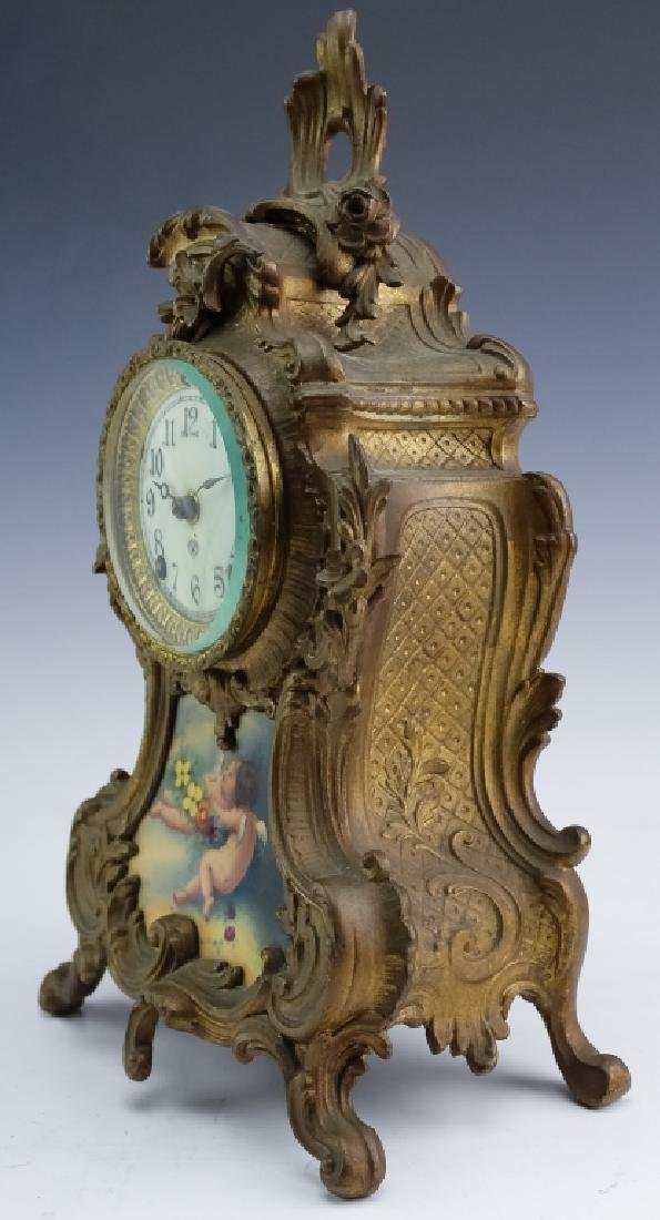 Antique Ansonia French Style Bronze Mantle Clock - 4