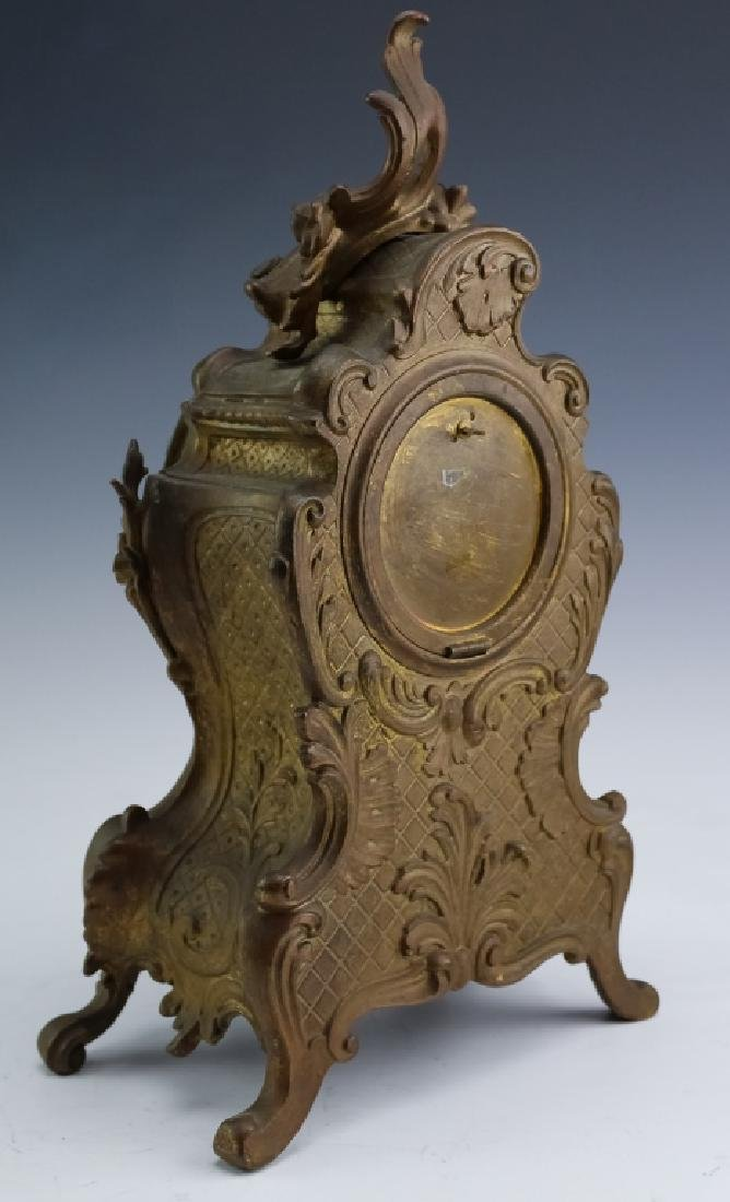 Antique Ansonia French Style Bronze Mantle Clock - 5