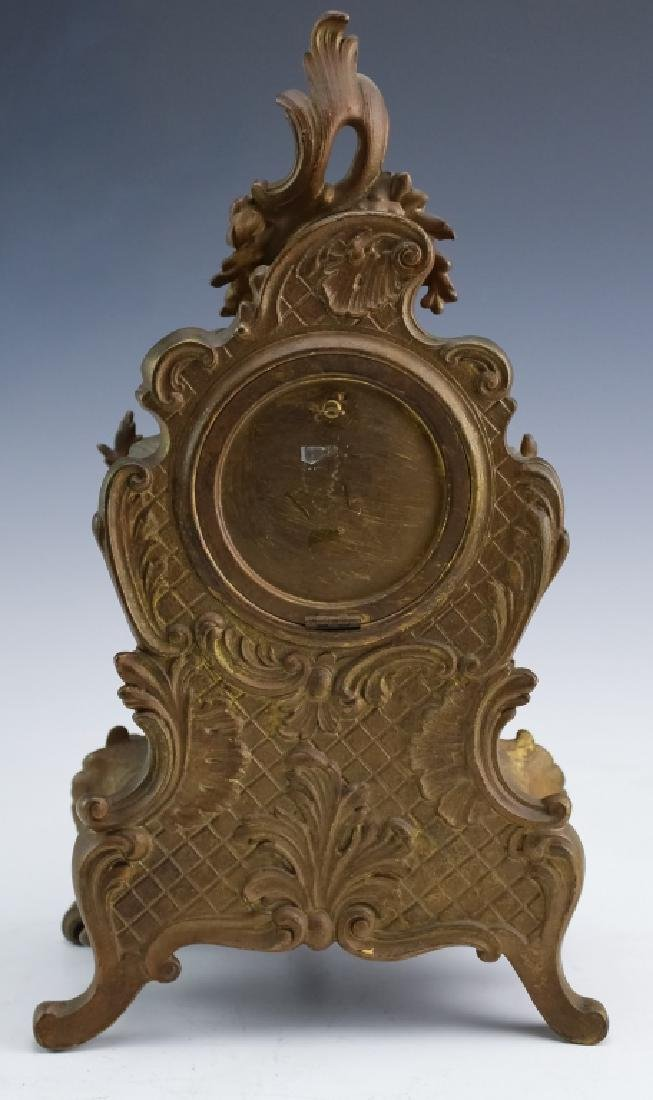 Antique Ansonia French Style Bronze Mantle Clock - 6