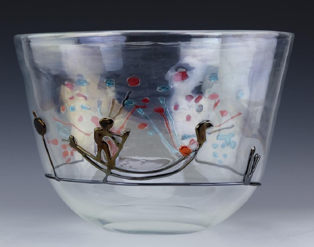 Licio Zanetti Murano Art Glass Gondoliere Vase BIG