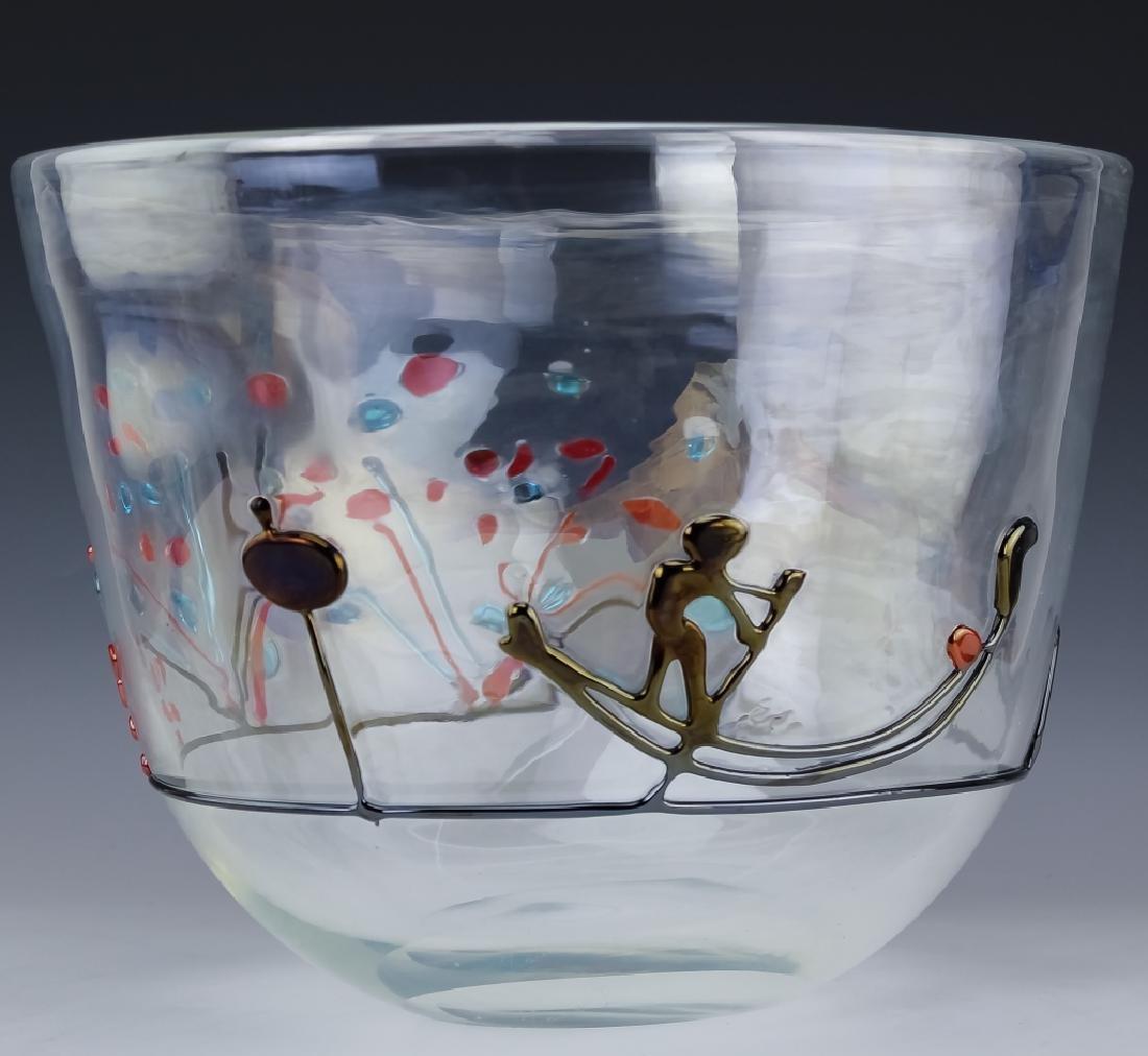 Licio Zanetti Murano Art Glass Gondoliere Vase BIG - 2