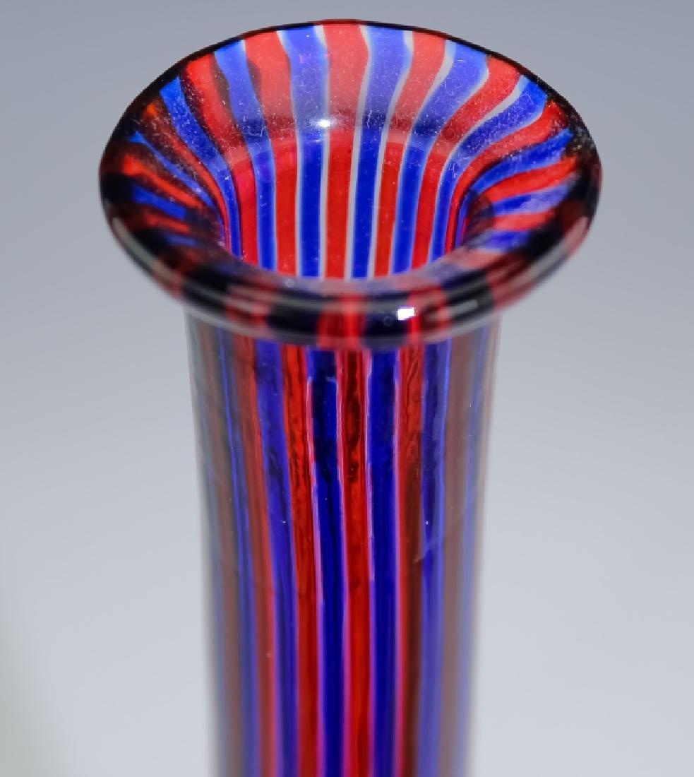 Venini Murano Art Glass Striped Bottle Sculpture - 2
