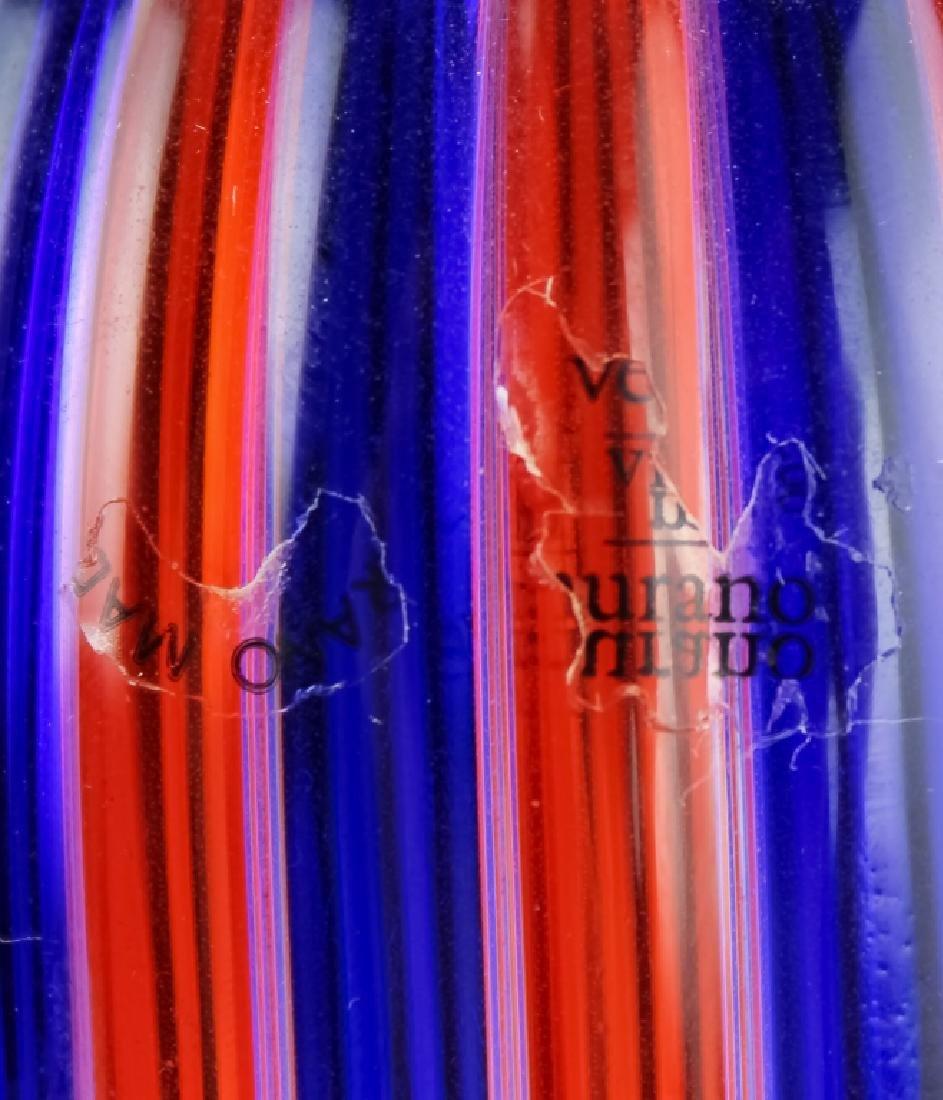 Venini Murano Art Glass Striped Bottle Sculpture - 4