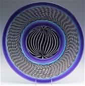 Peter Greenwood Studio Art Glass Disk Sculpture