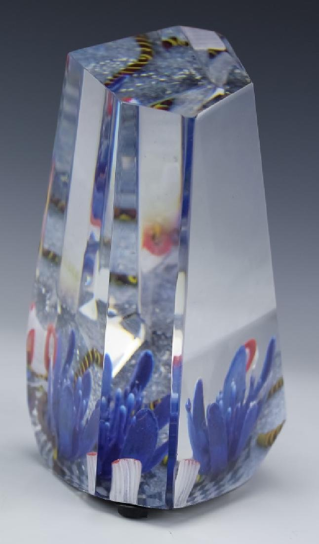 American Studio Art Glass Sea Aquarium Paperweight - 8