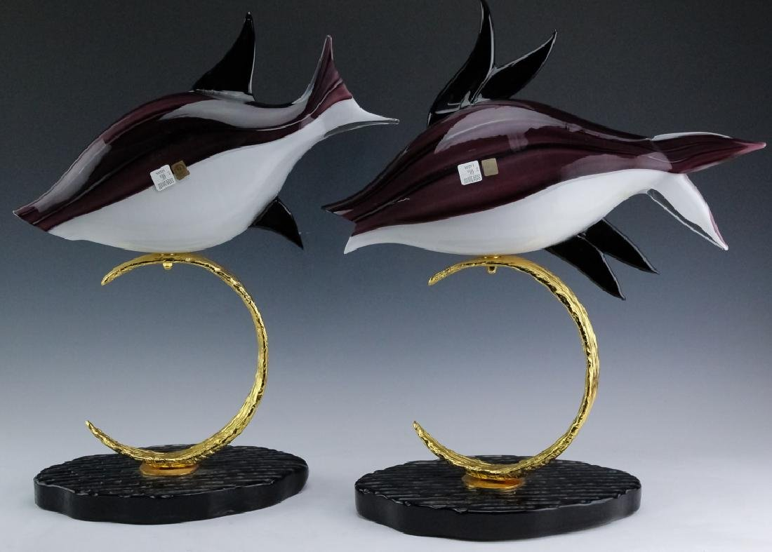 PR Lucio Zanetti Murano Glass Art Fish Sculptures - 3