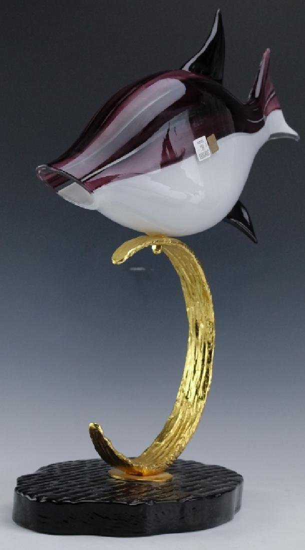 PR Lucio Zanetti Murano Glass Art Fish Sculptures - 5