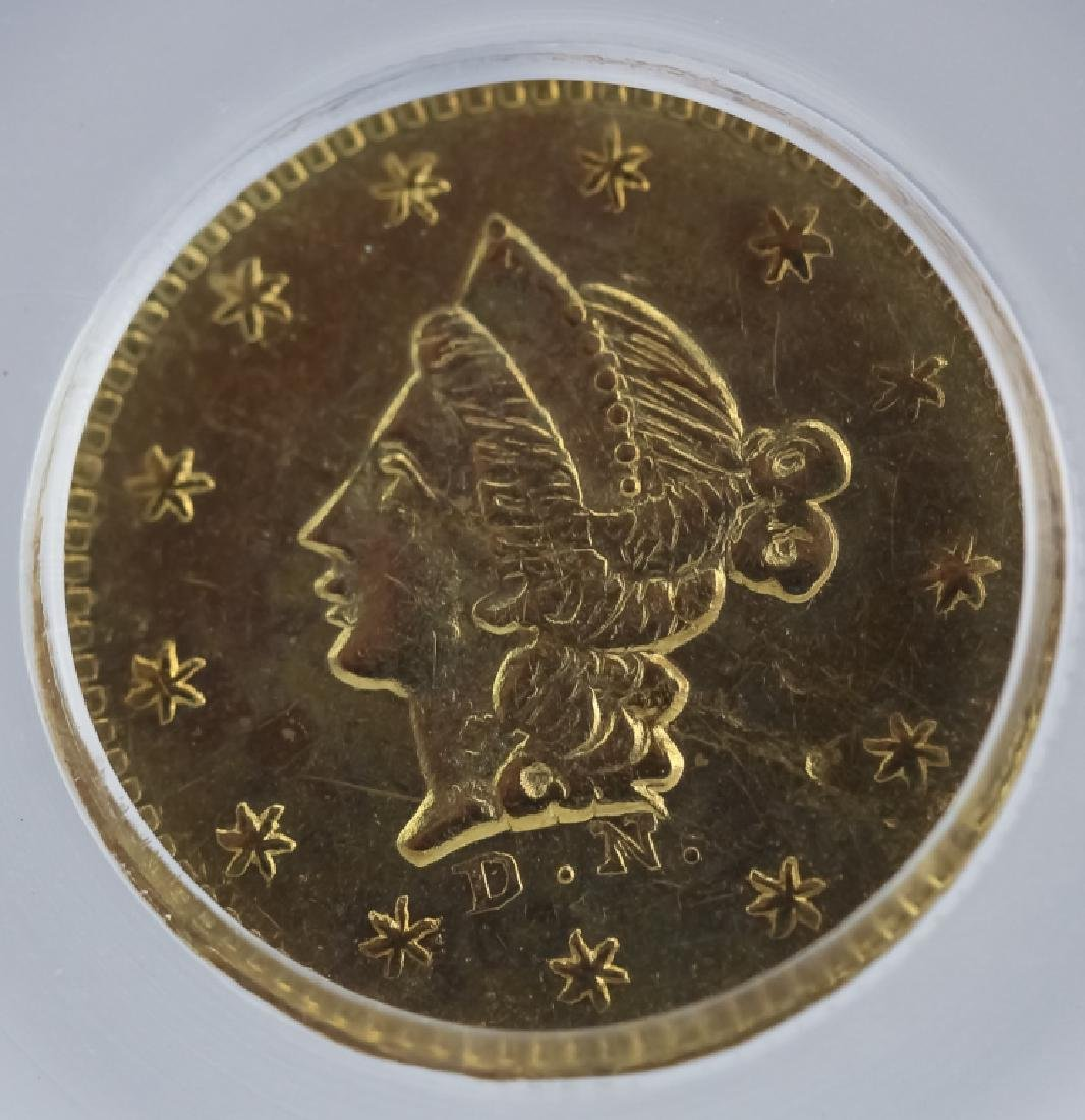 1853 50c BG-409 MS61 California Fractional Gold