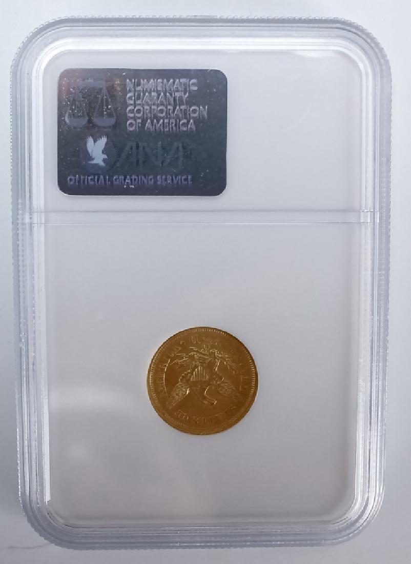 1847 O NGC AU55 $2.5 Gold Quarter Eagle US Coin - 2