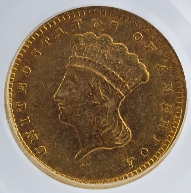 Rotated Die ERROR 1857 C PCGS XF40 $1 Gold Dollar