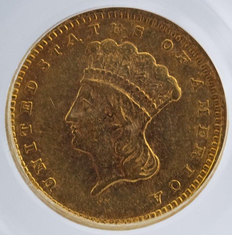 Rotated Die ERROR 1857 C PCGS XF40 $1 Gold Dollar