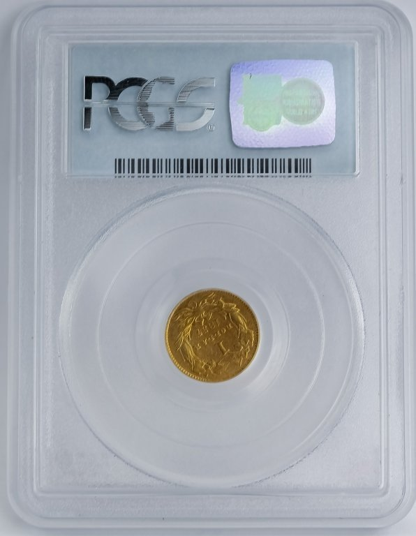 Rotated Die ERROR 1857 C PCGS XF40 $1 Gold Dollar - 4