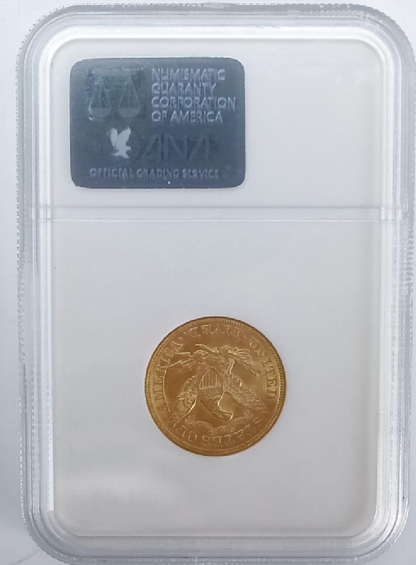 1873 NGC MS62 $5 Closed 3 Gold Half Eagle US Coin - 3