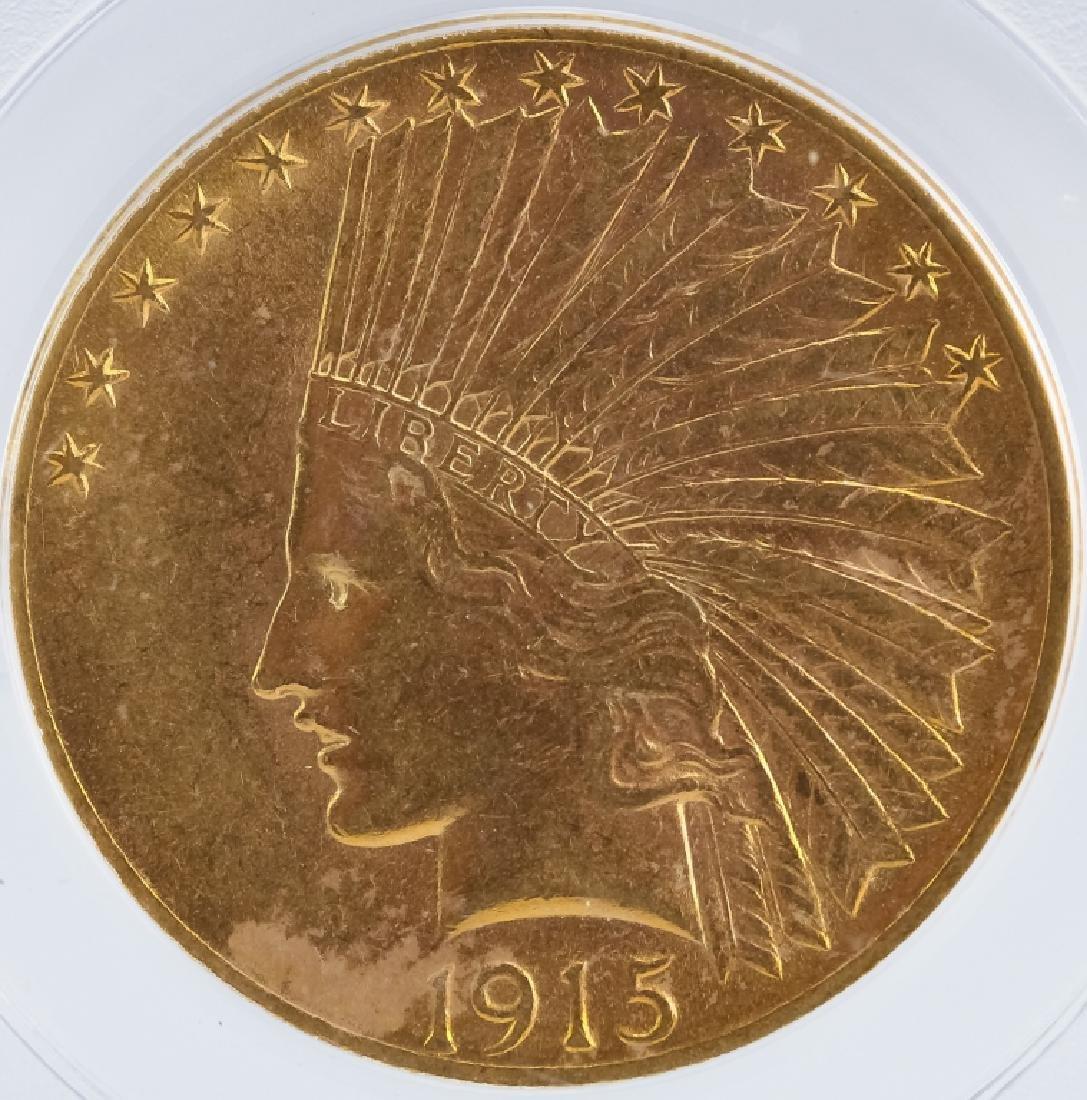 1915 S PCGS AU58 $10 Gold Indian Eagle US Coin - 2