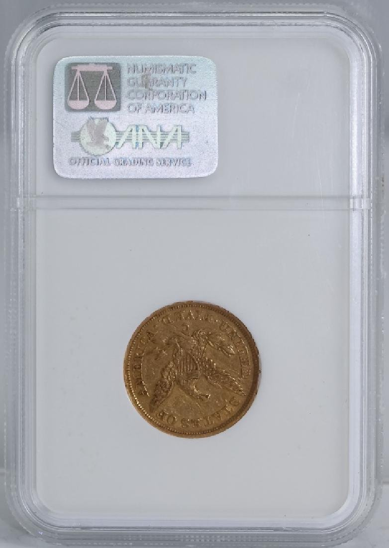 1857 C NGC XF40 $5 Gold Half Eagle Coin, Charlotte - 4
