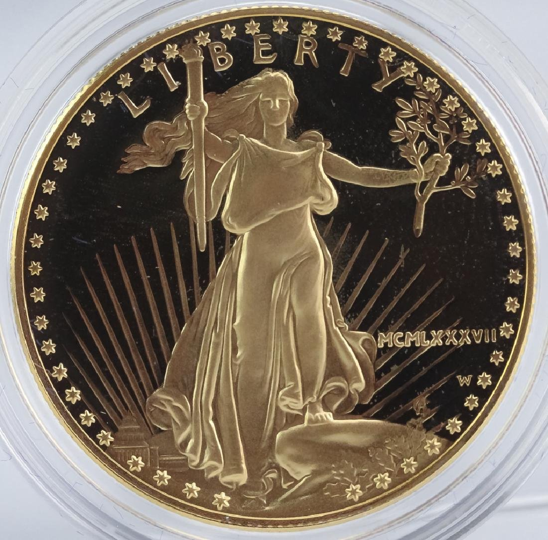 1987 1oz $50 Proof Gold American US Eagle Coin